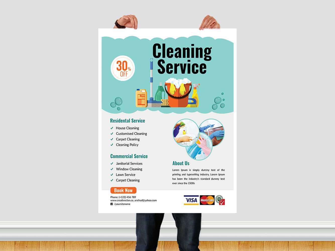 Cleaning Service Flyer Templatear Xihad On Dribbble Intended For Commercial Cleaning Brochure Templates