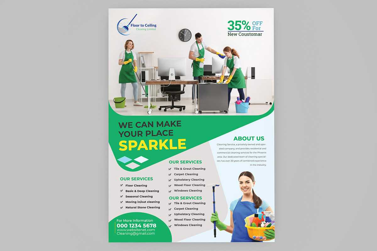 Cleaning Services Flyer Template On Student Show Within Commercial Cleaning Brochure Templates