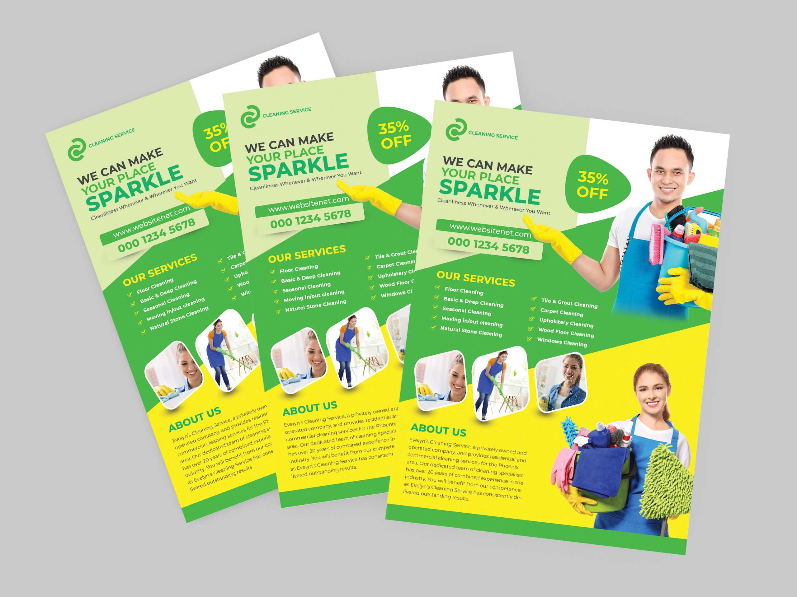 Cleaning Services Flyer Templatesaad Uddin On Dribbble In Commercial Cleaning Brochure Templates
