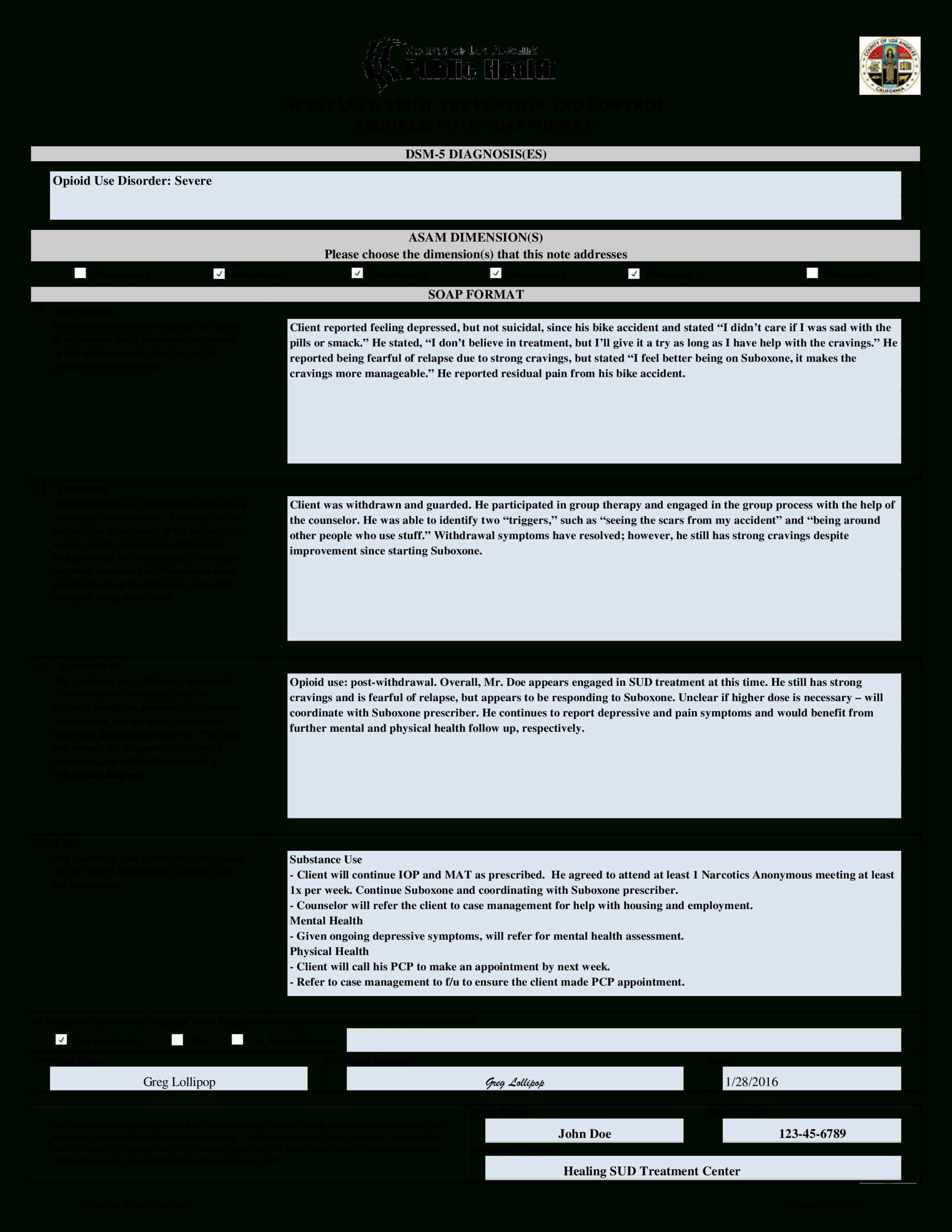 Clinical Progress Note   Templates At Allbusinesstemplates For Daily Progress Note Template