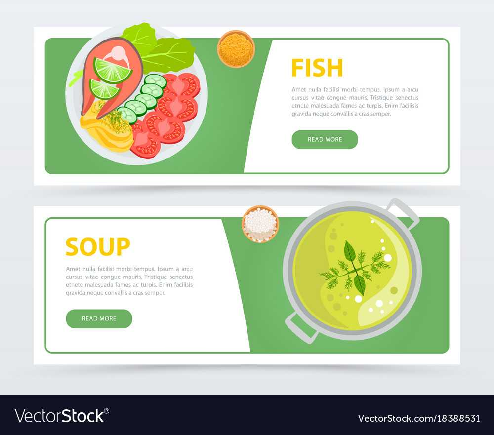 Colorful Horizontal Food Banner Template For Food Banner Template