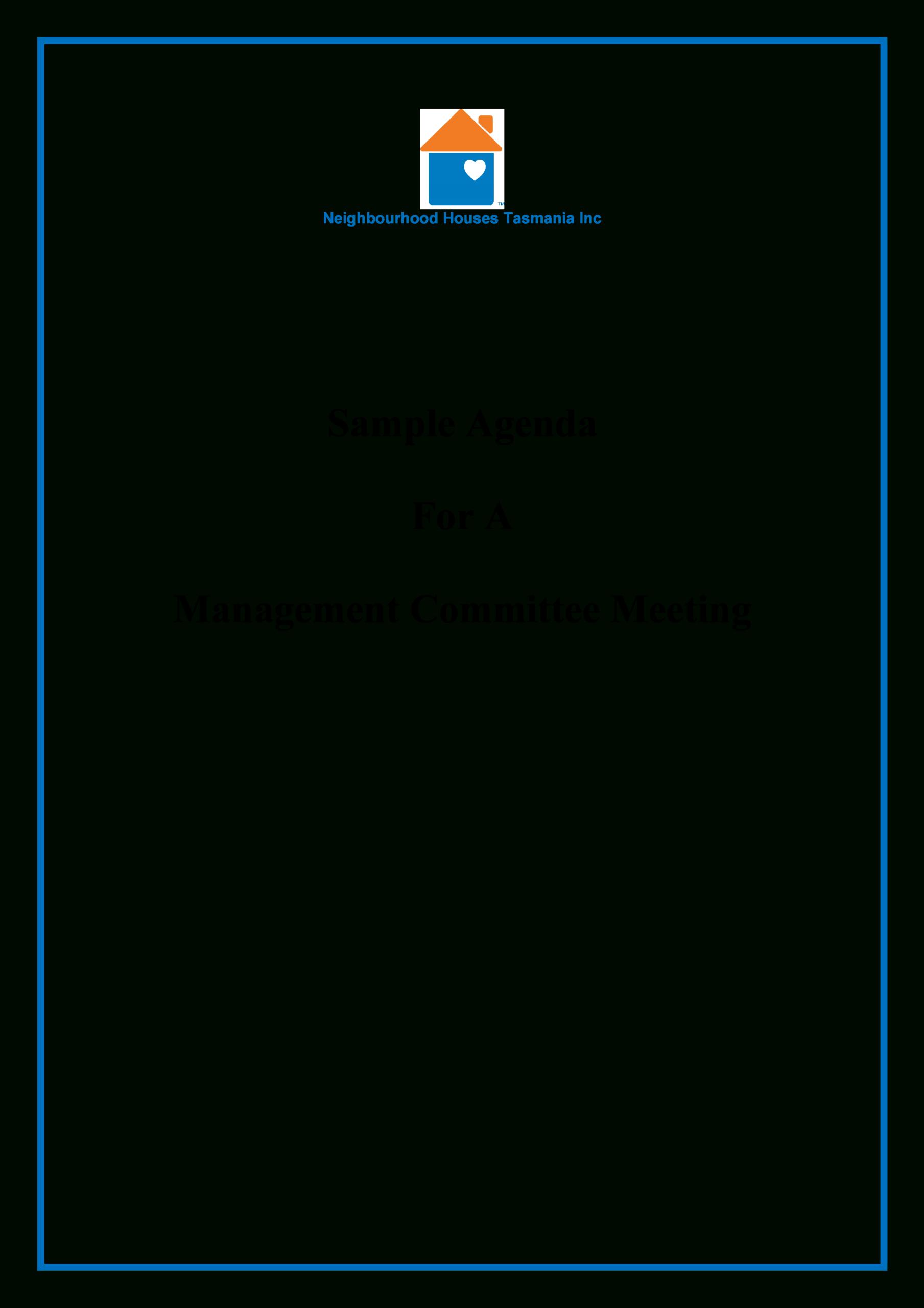 Committee Management Meeting Agenda | Templates At Pertaining To Committee Meeting Agenda Template