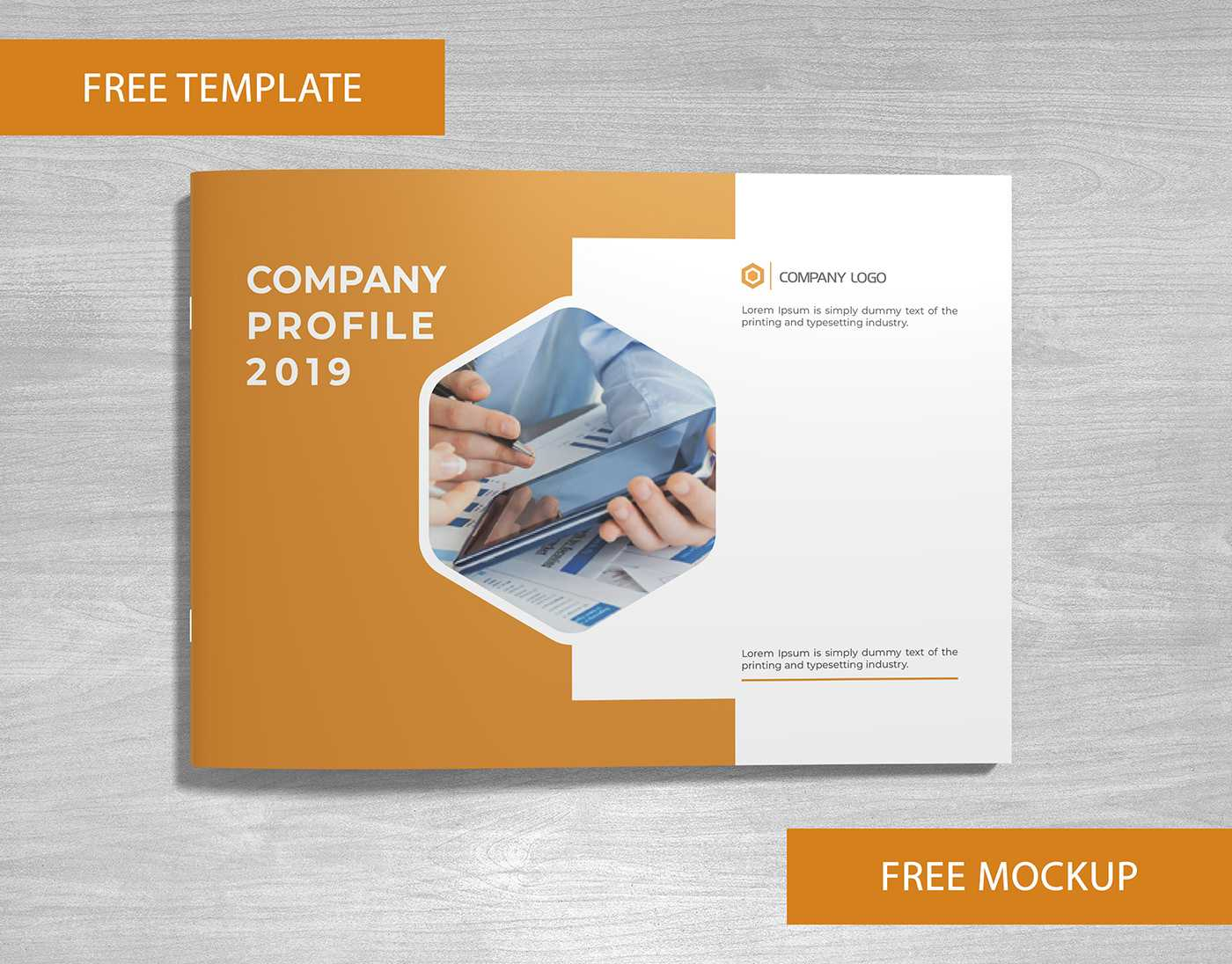 Company Profile Free Template And Mockup Download On Behance Throughout Free Business Profile Template Download