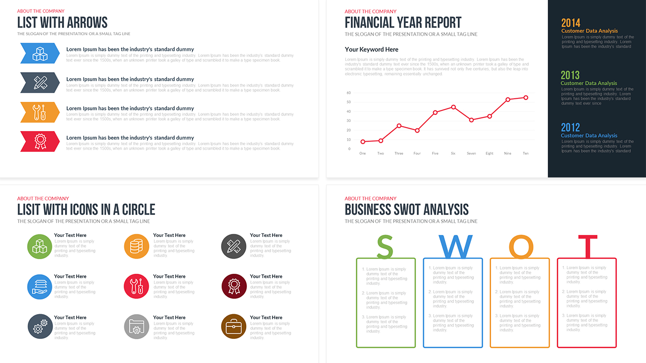 Company Profile Powerpoint Template Free – Slidebazaar Within Free Business Profile Template Word
