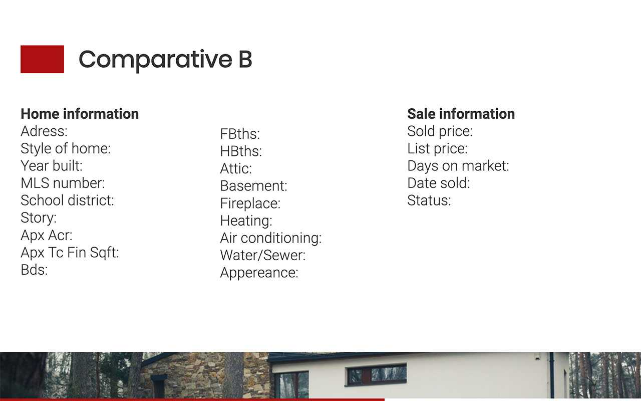 Comparative Market Analysis Template Throughout Comparative Market Analysis Template