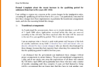 Complaint Text Example. for Formal Letter Of Complaint To Employer Template