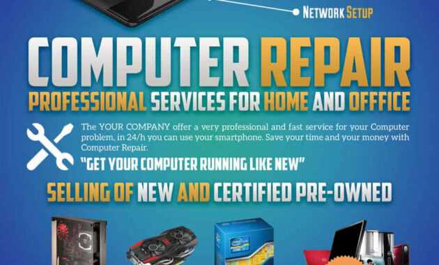 Computer Repair Flyers - Word Excel Samples with Computer Repair Flyer Word Template