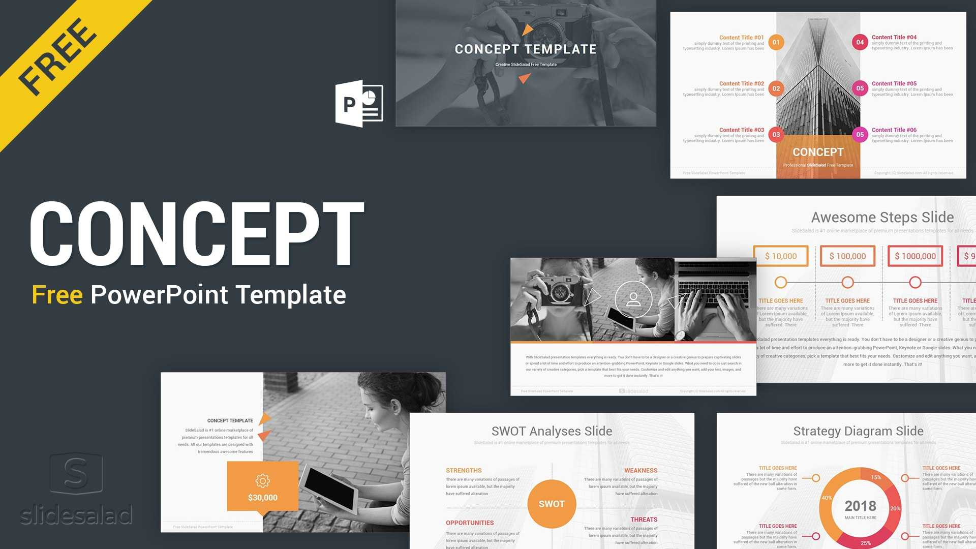 Concept Free Powerpoint Presentation Template - Free Regarding Free Download Powerpoint Templates For Business Presentation