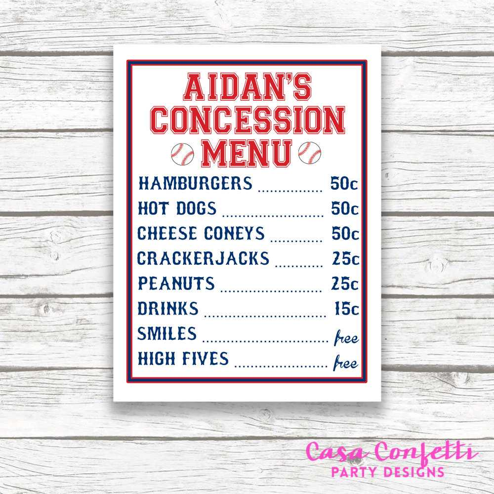 Concession Stand Menu Template Free – Air Media Design Throughout Concession Stand Menu Template