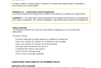 Conflict Of Interest in Conflict Of Interest Policy Template