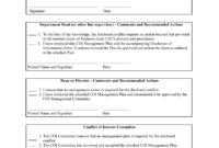 Conflict Of Interest Management Plan Template intended for Conflict Of Interest Policy Template