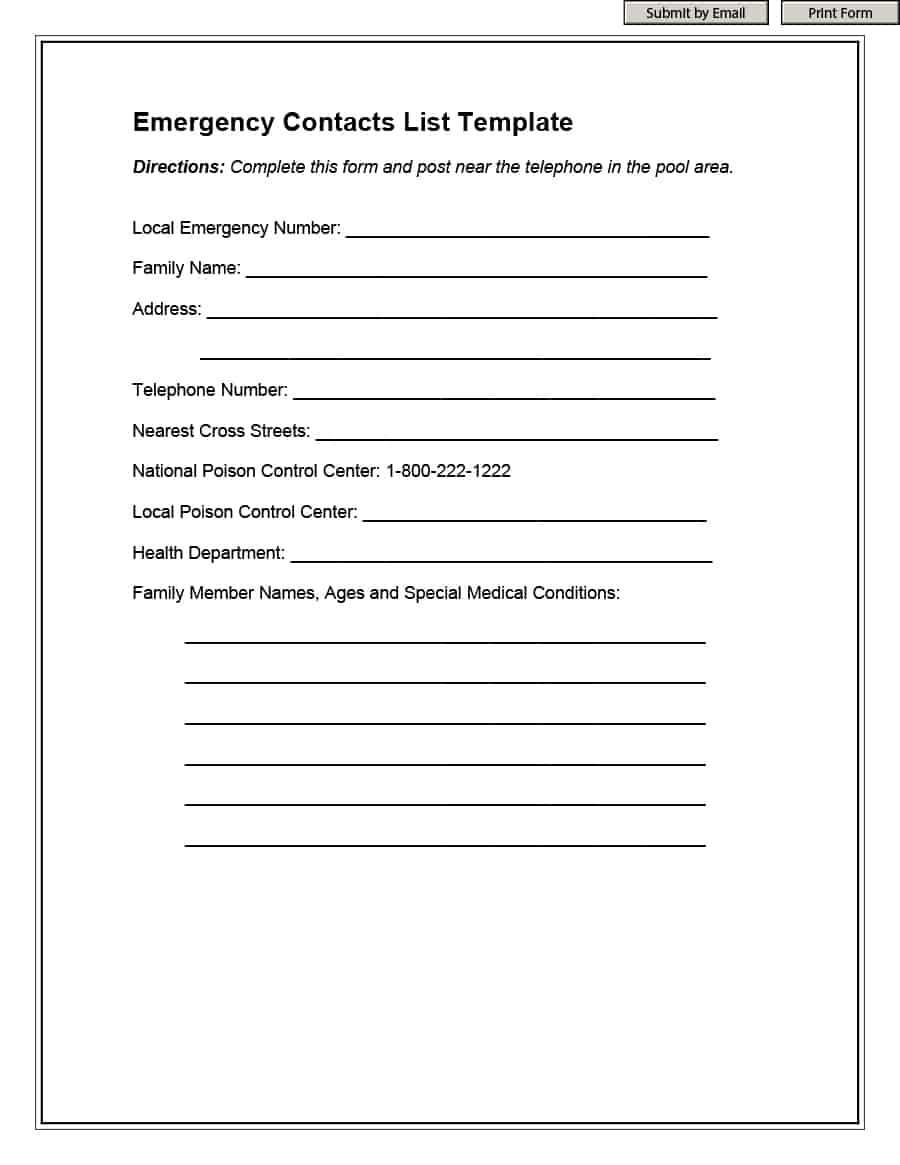 Contact Info Template – Colona.rsd7 Inside Emergency Contact Card Template