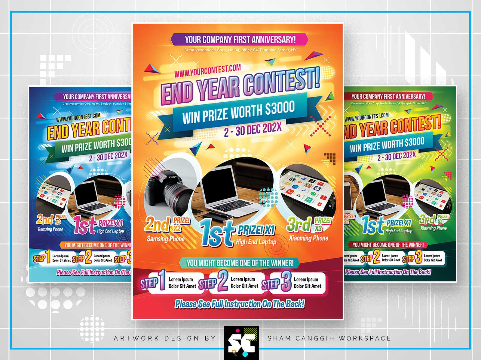 Contest Flyersc Workspace On Dribbble With Regard To Contest Flyer Template