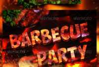 Cookout Flyer Graphics, Designs & Templates From Graphicriver for Free Bbq Flyer Template