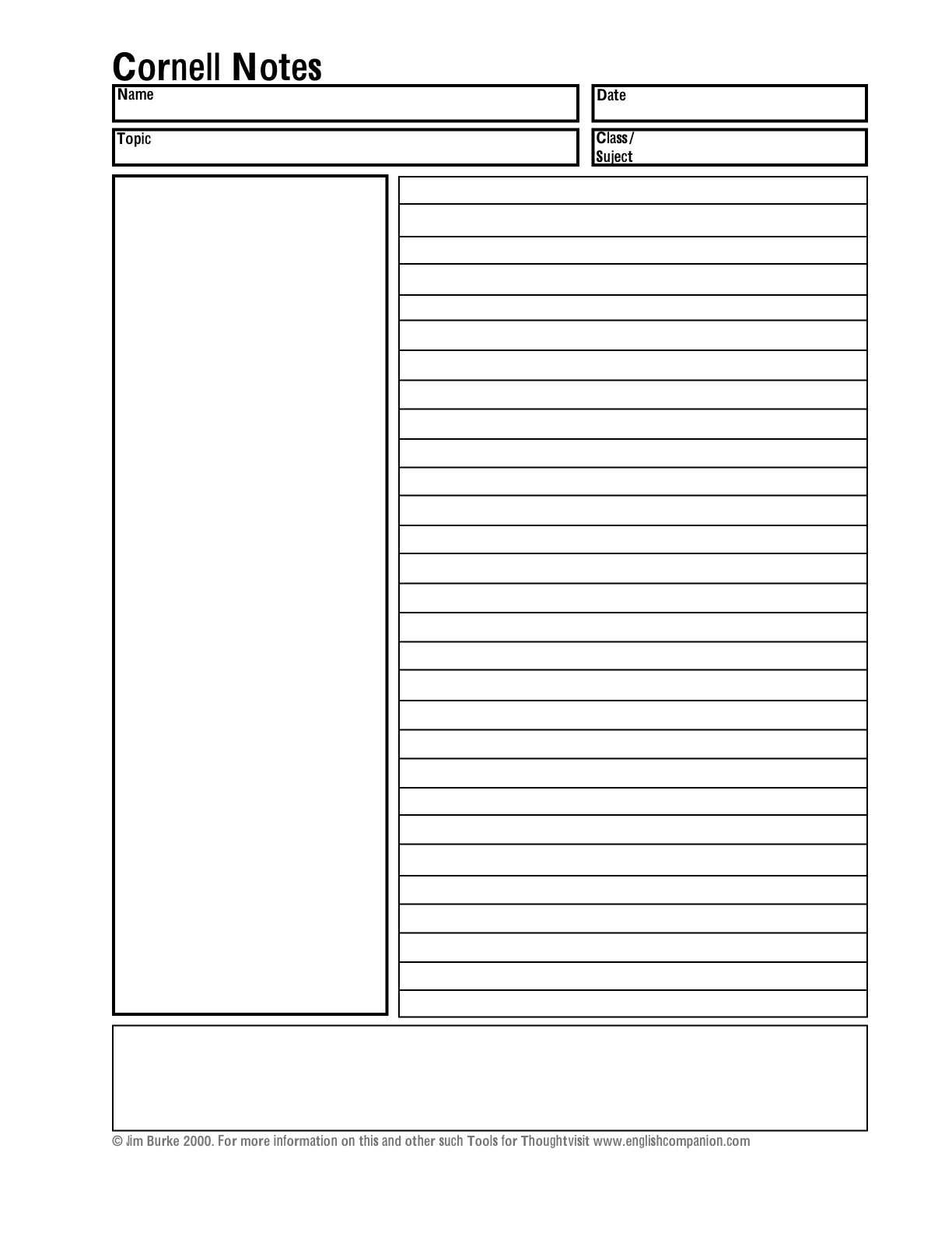 Cornell Notes Template Word Abq2Iv2D – وادي المشمش With Cornell Note Template Word