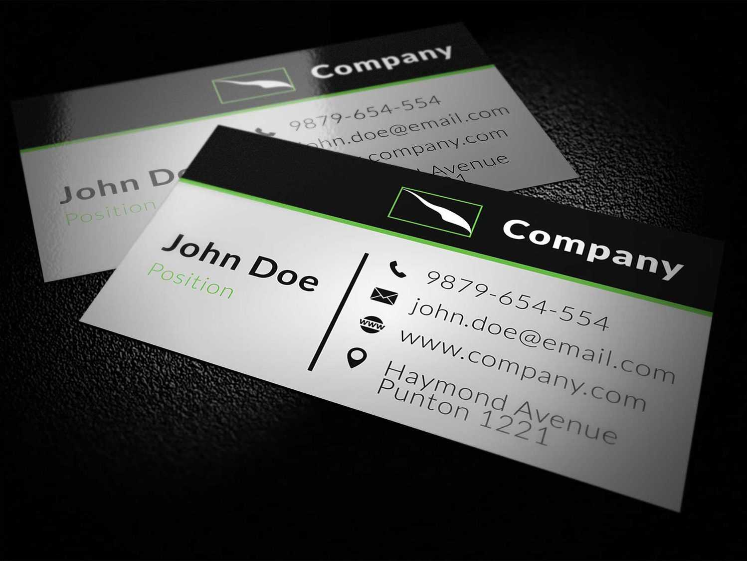 Corporate Business Card Template Vol.2 - Business Cards Lab Regarding Email Business Card Templates