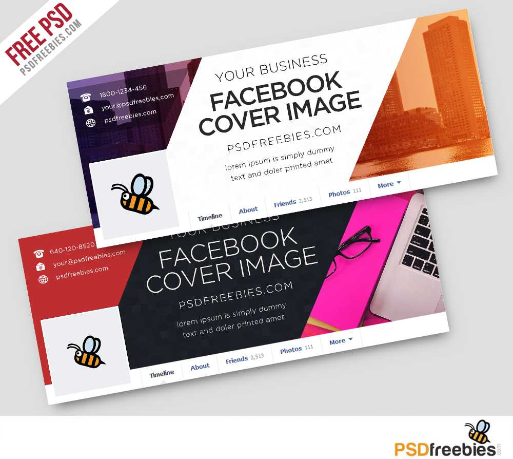 Corporate Facebook Covers Free Psd Template   Psdfreebies In Facebook Banner Template Psd