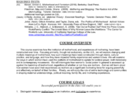Course Proposal Template with Course Proposal Template