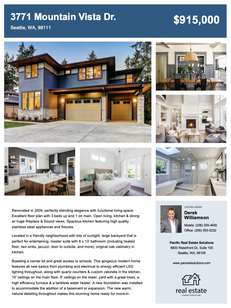 Create Free Real Estate Flyers | Zillow Premier Agent Within Free House For Sale Flyer Templates