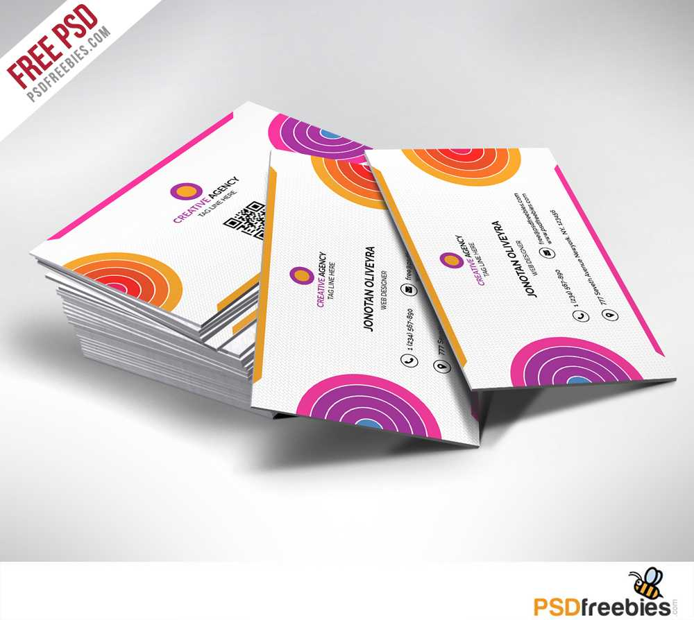 Creative And Colorful Business Card Free Psd | Psdfreebies With Regard To Creative Business Card Templates Psd