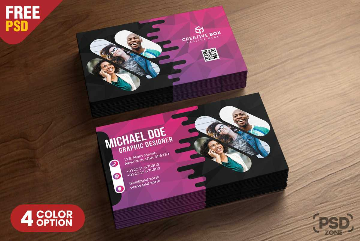 Creative Business Card Psd Templates - Psd Zone Inside Creative Business Card Templates Psd
