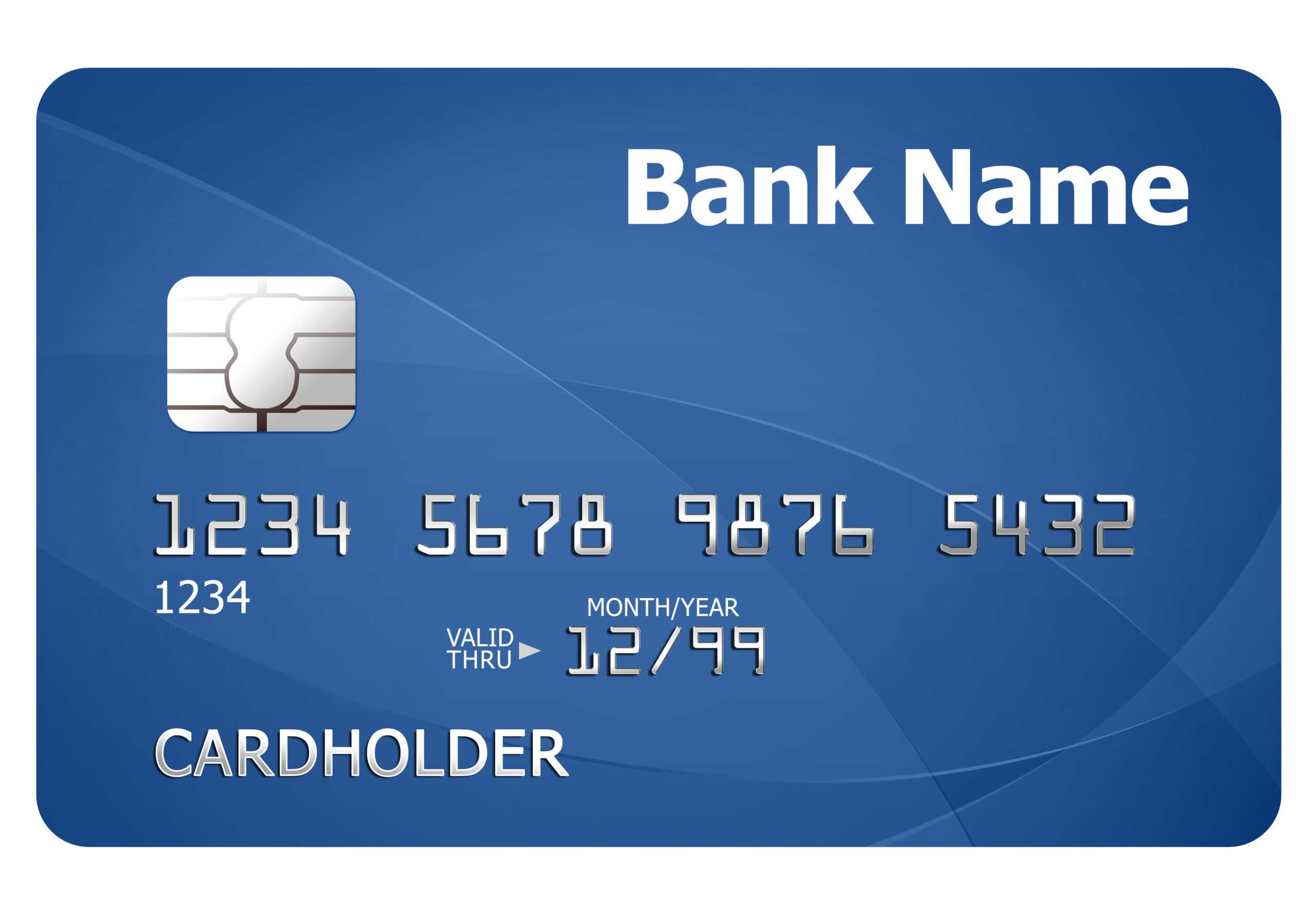 Credit Card Template   Psdgraphics Within Credit Card Template For Kids