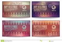 Customer Loyalty Card Templates Stock Vector – Illustration within Customer Loyalty Card Template Free