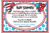 Customizable Dr Seuss Baby Shower Invitations • Baby Showers with Dr Seuss Flyer Template