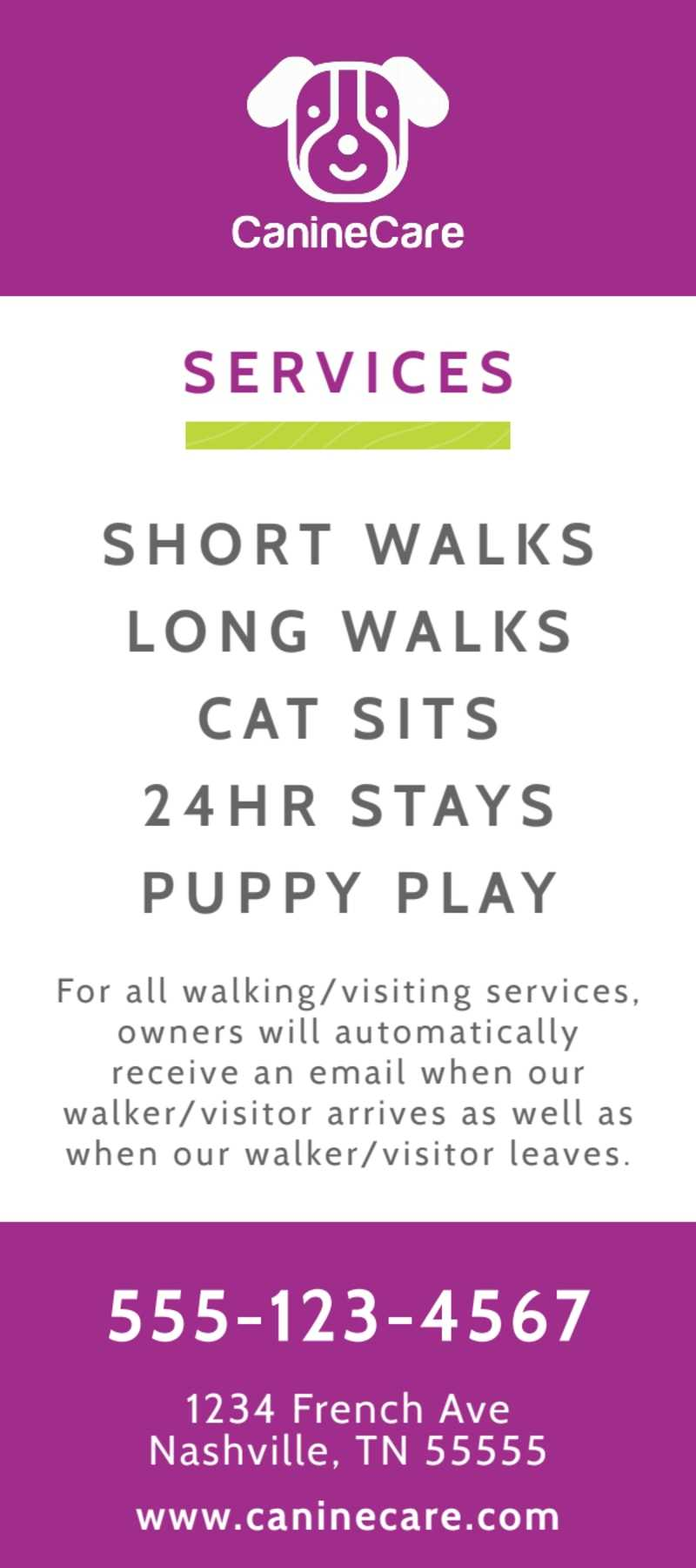 Daily Dog Walking Flyer Template Pertaining To Dog Walking Flyer Template