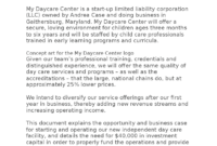 Daycare Business Plan Sample – Docsity throughout Daycare Center Business Plan Template