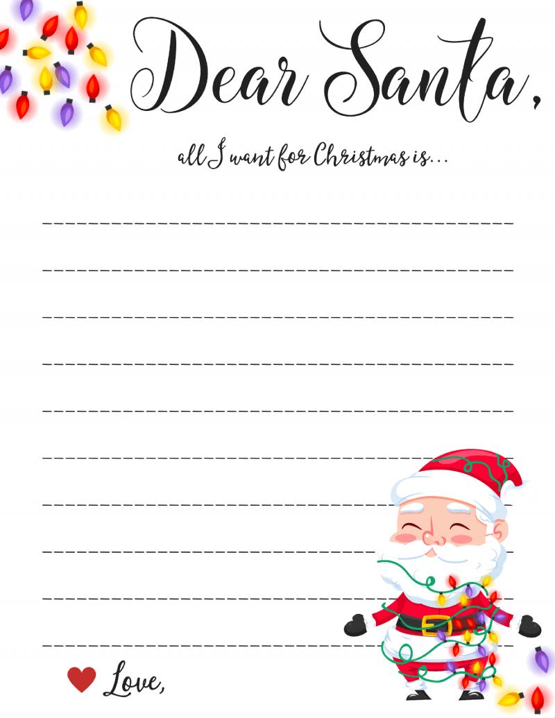 Dear Santa Letter: Free Printable Downloads - Inside Dear Santa Letter Template Free