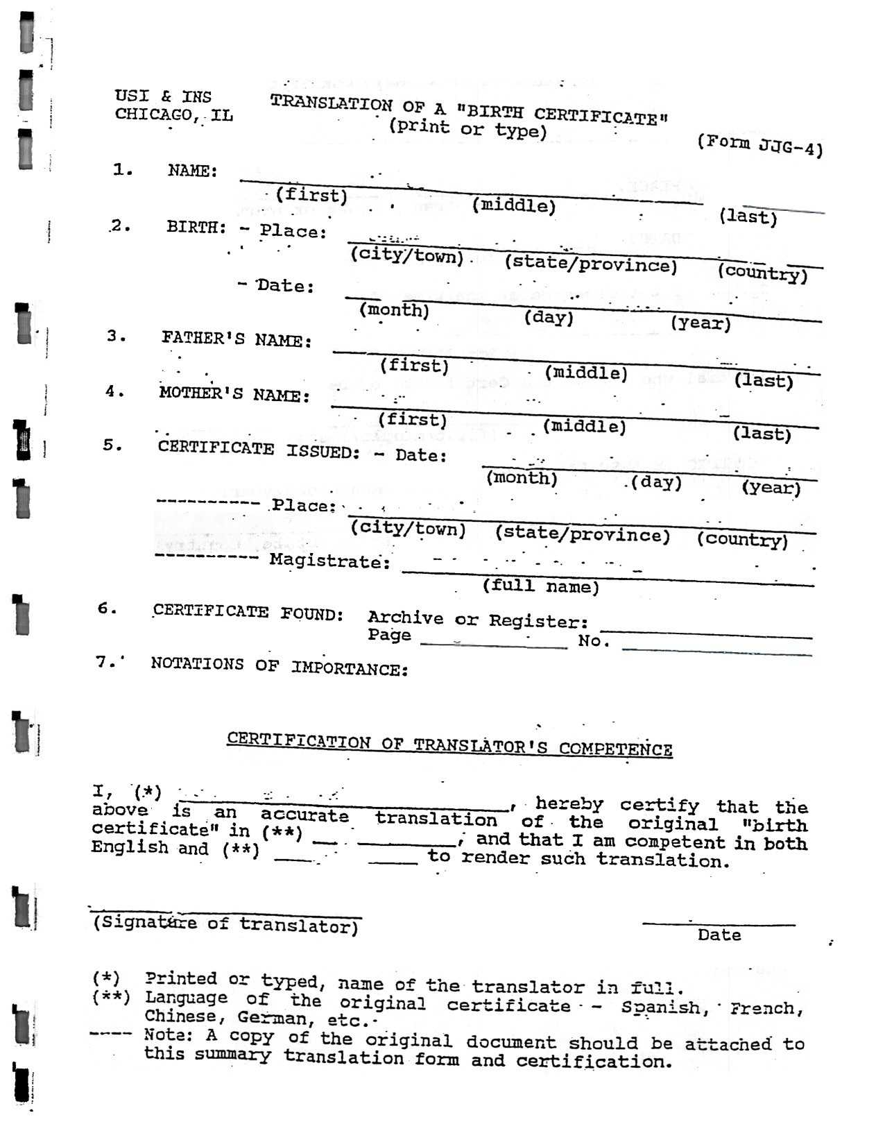 Death Certificate Translation Template Spanish To English Regarding Death Certificate Translation Template