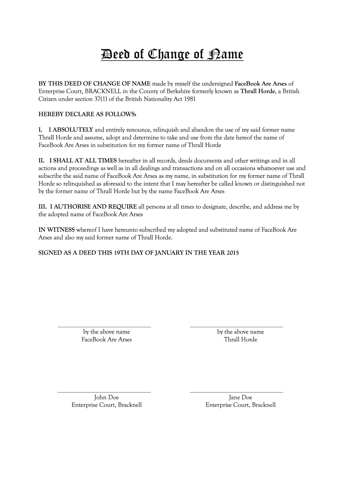 Deed Of Change Of Name | Midway Media Inside Deed Poll Name Change Letter Template