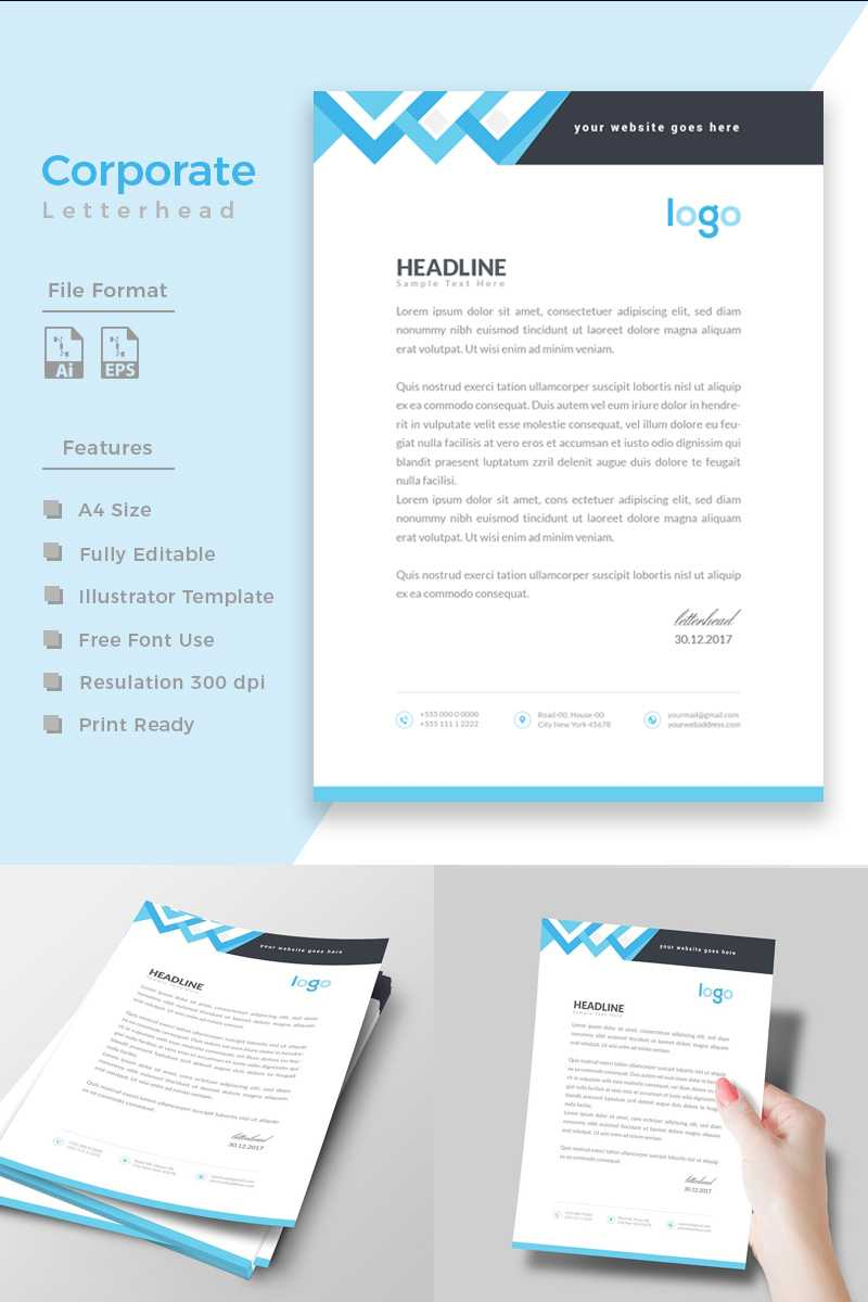 Design Express Corporate Identity Template #86198 For Corporate Express Templates