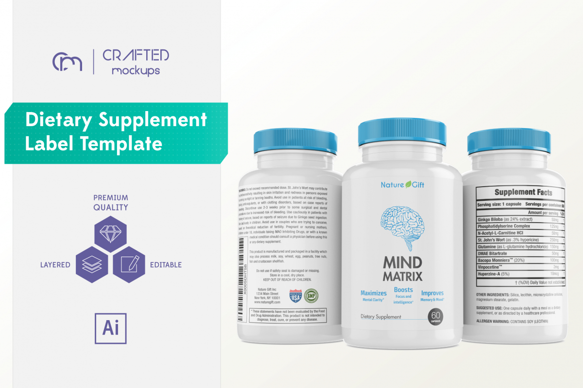 Dietary Supplement Label Template Inside Dietary Supplement Label Template