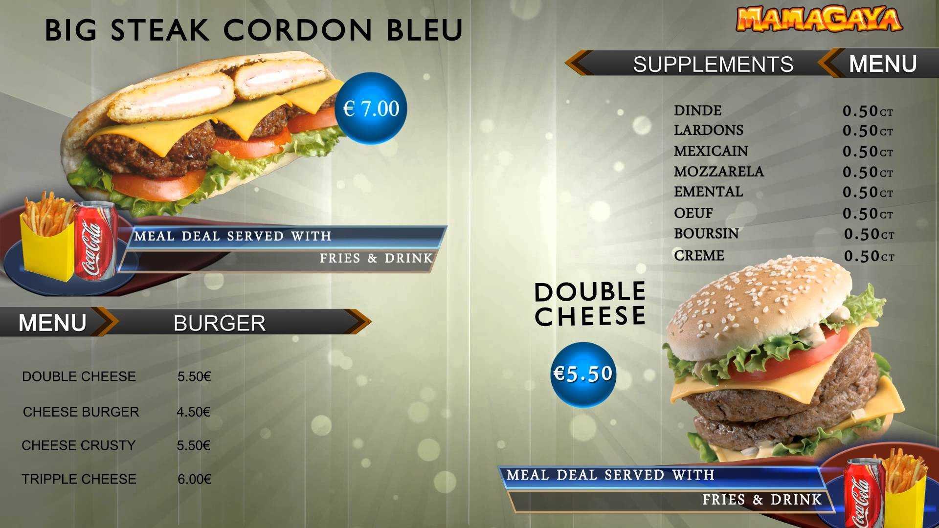 Digital Signage Video Template Restaurant Menu – Top2D3D Studios Regarding Digital Menu Templates Free