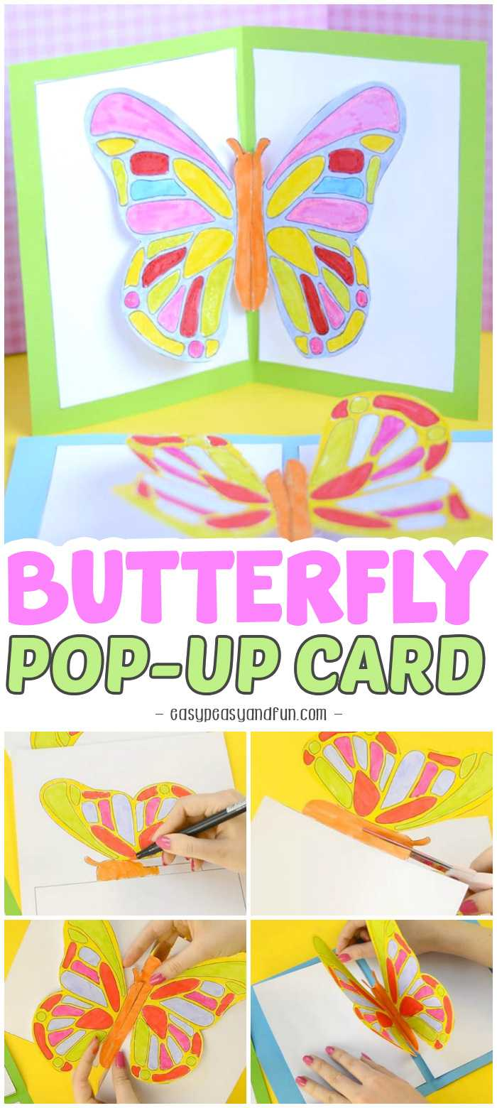 Diy Butterfly Pop Up Card With A Template - Easy Peasy And Fun Pertaining To Diy Pop Up Cards Templates