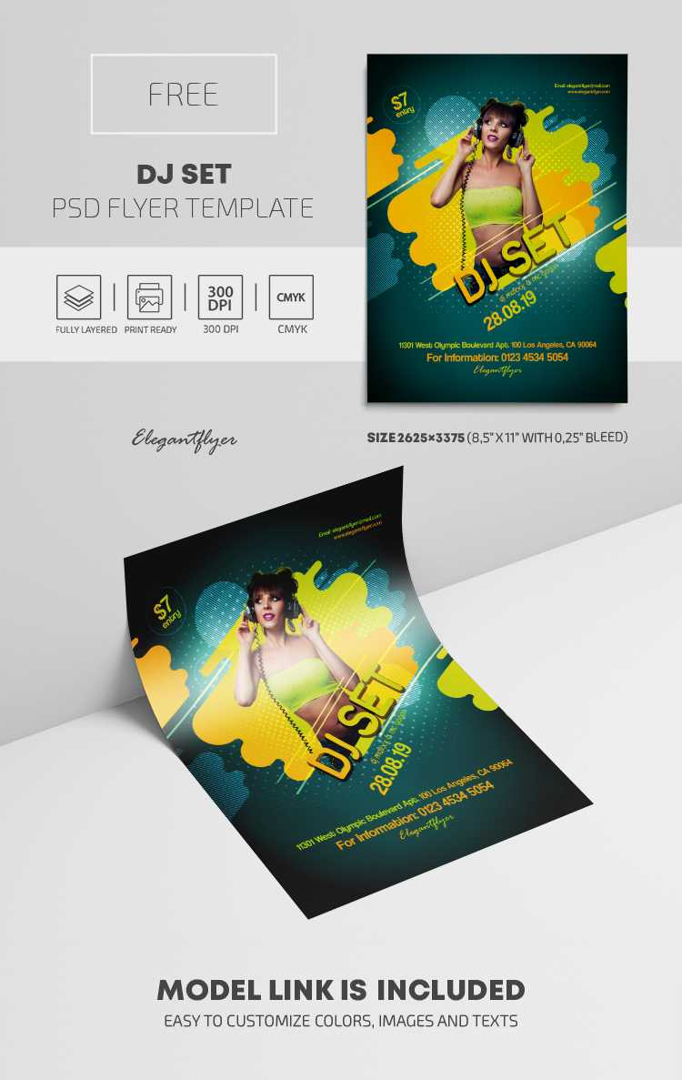 Dj Set – Free Psd Flyer Template With Elegant Flyer Template Free