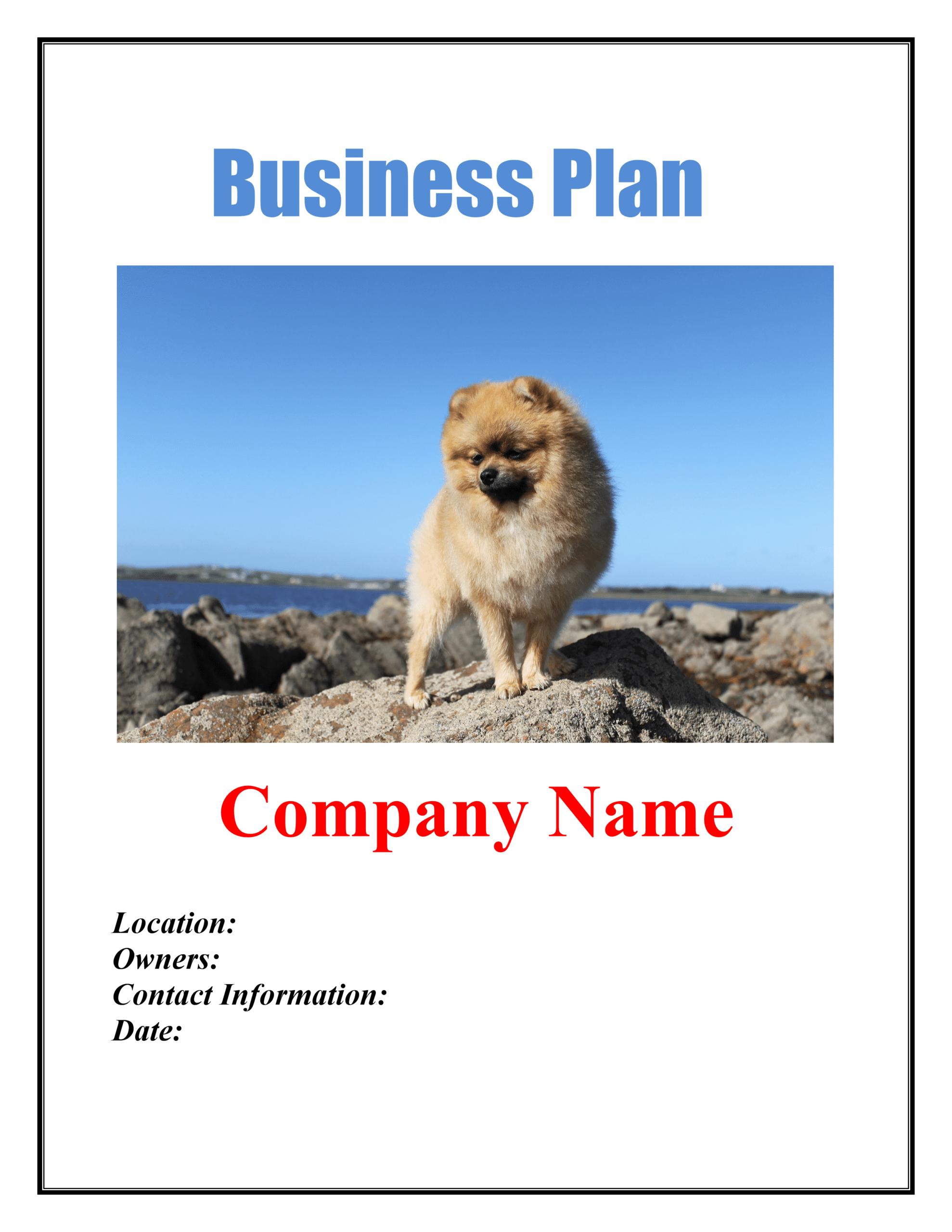 Dog Breeding Business Plan Template Sample Pages - Black Box For Dog Breeding Business Plan Template