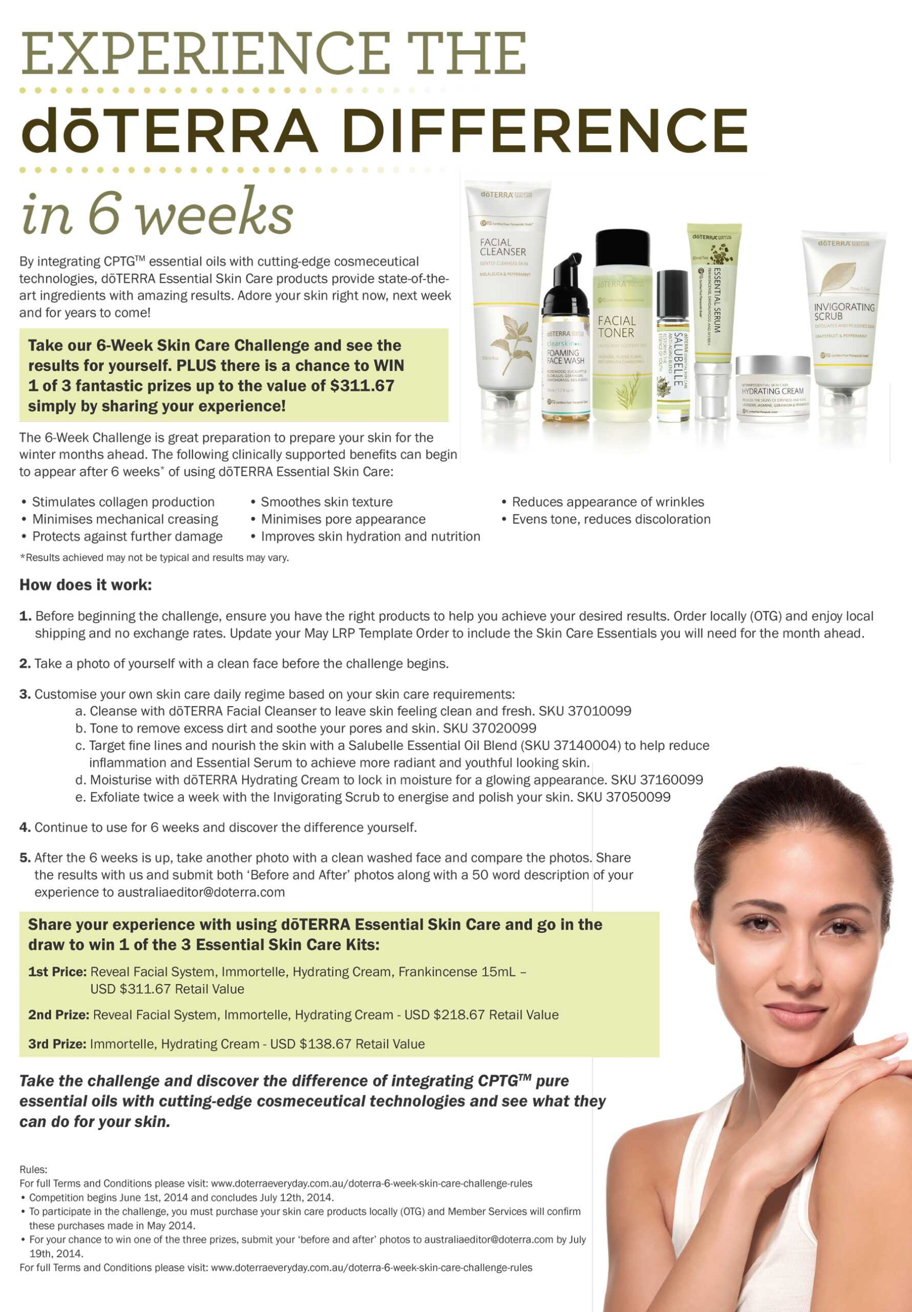 Dōterra 6 Week Skin Care Challenge - Rules - Dōterra In Doterra Flyer Templates