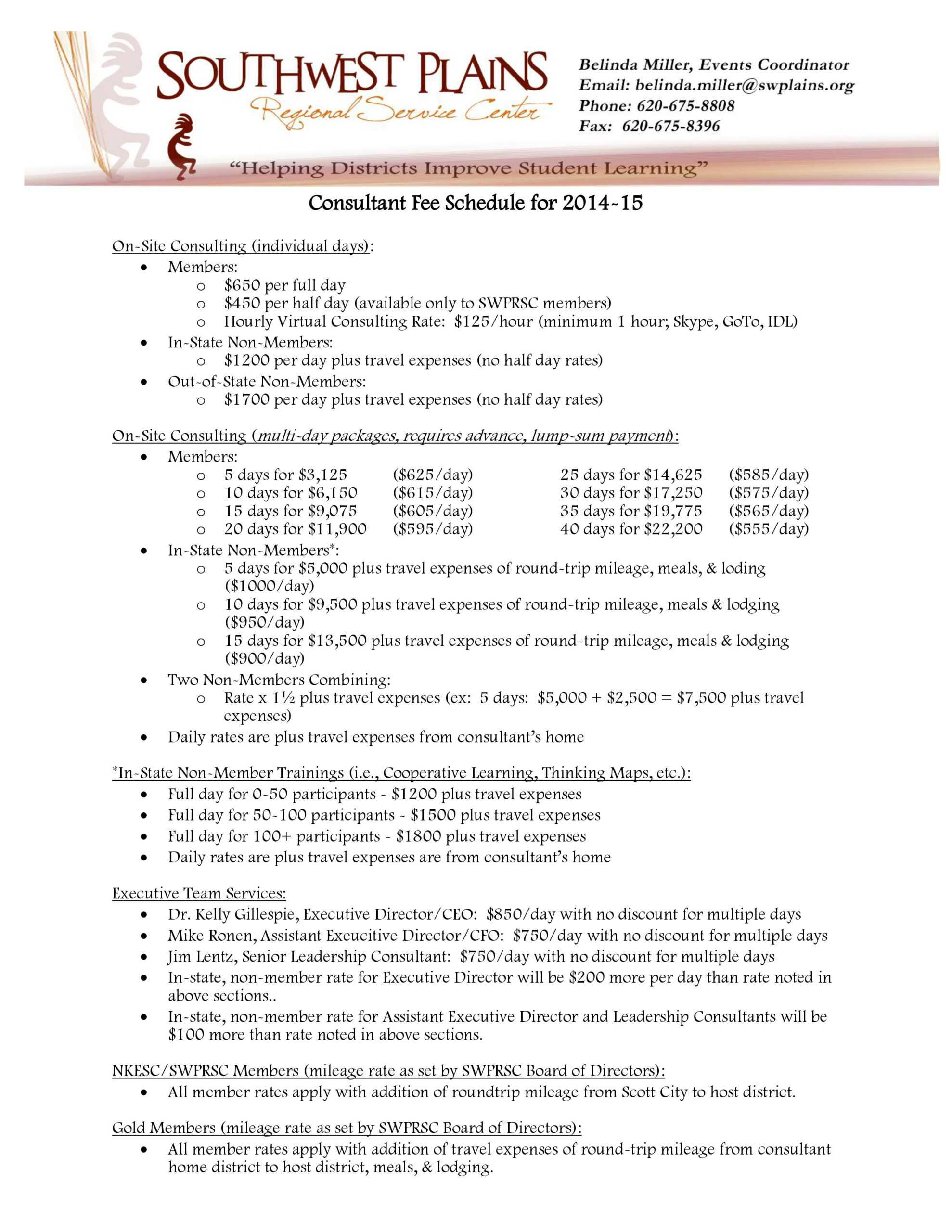 Download] Consultant Fee Schedule (Template) - Bonsai Pertaining To Fee Schedule Template