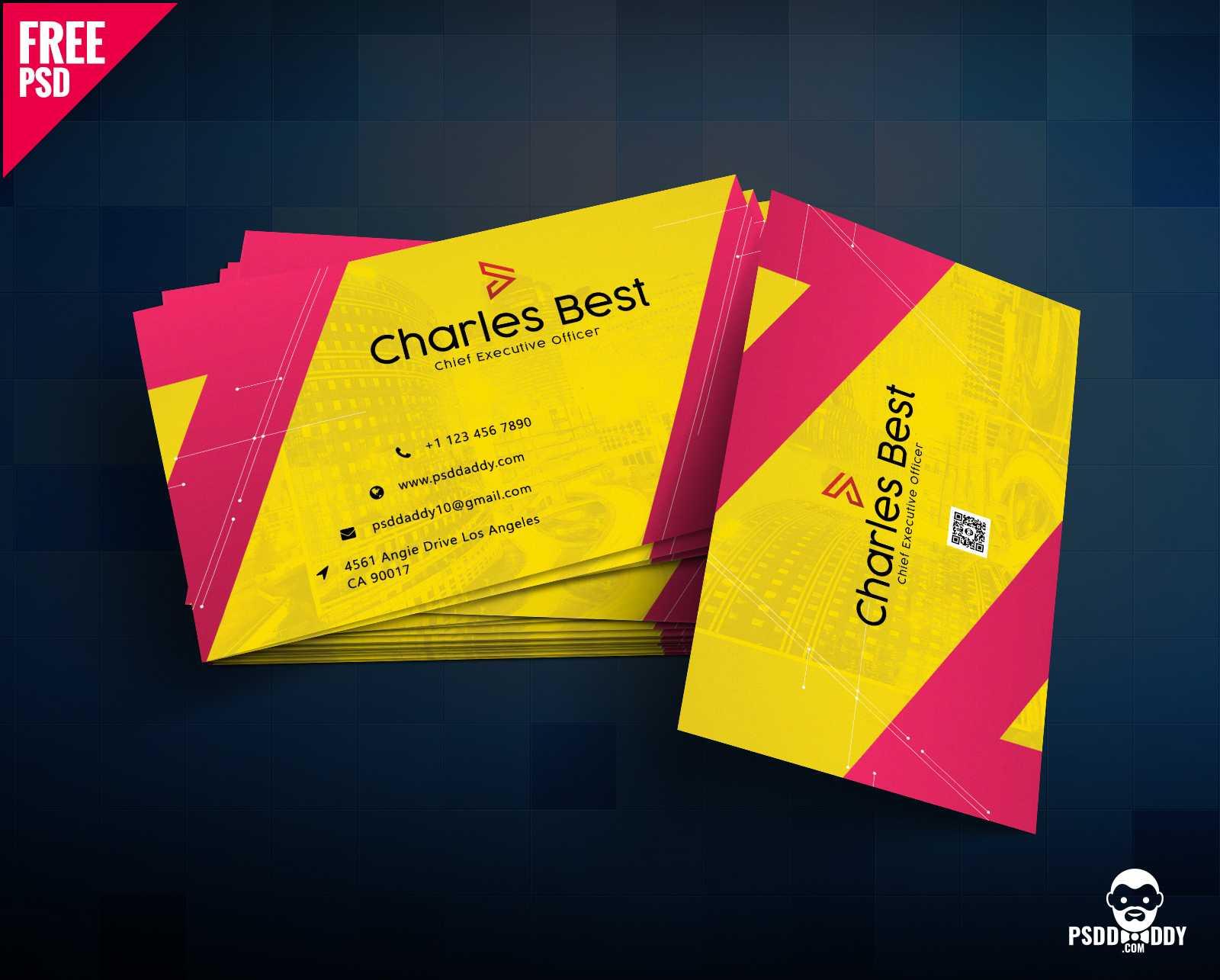 Download] Creative Business Card Free Psd | Psddaddy Regarding Free Psd Visiting Card Templates Download