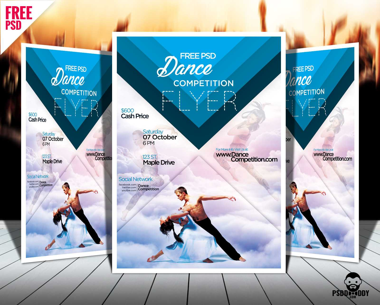 Download] Dance Competition Flyer Psd | Psddaddy Regarding Flyer Maker Template