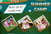 Download Free Great Fun Kids Summer Camp Flyer Design Templates with Free Summer Camp Flyer Template
