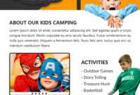 Download Free Sporty Fun Kids Summer Camp Flyer Design Templates pertaining to Free Summer Camp Flyer Template