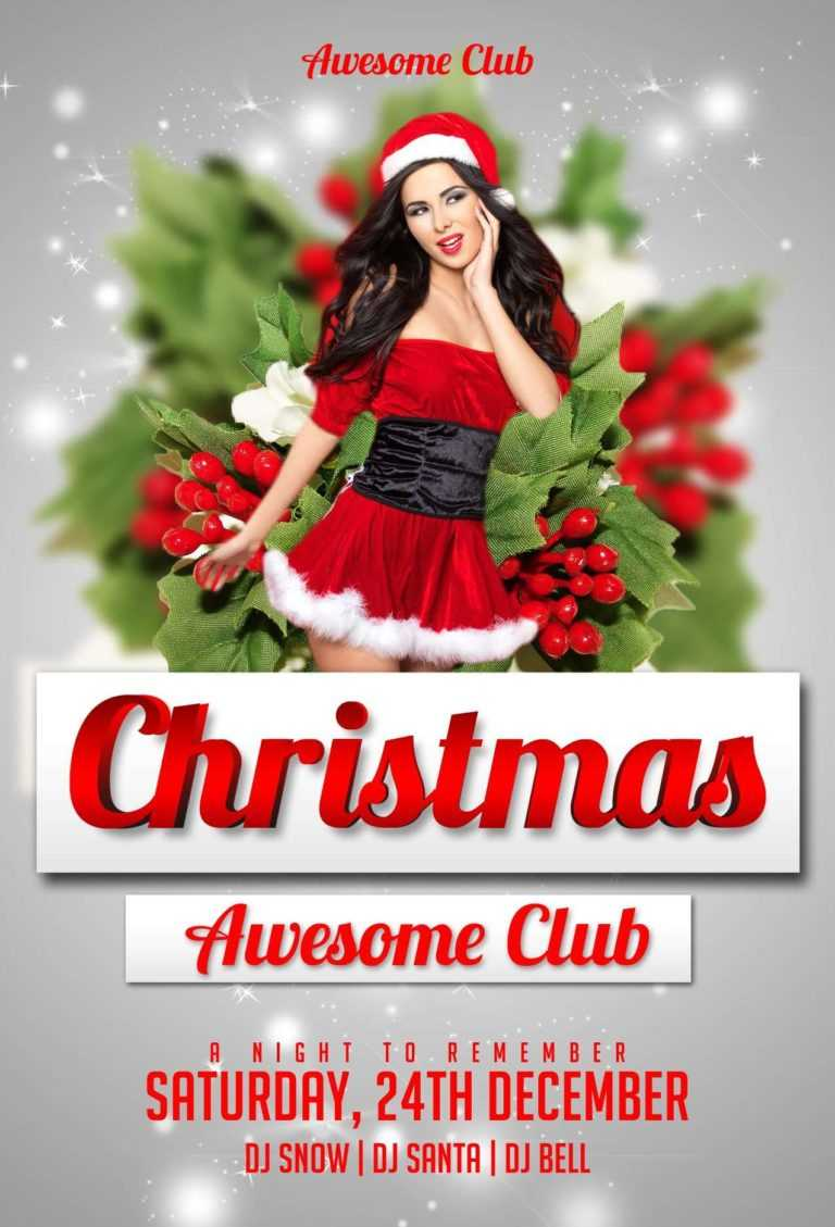Download The Christmas Free Psd Flyer Template For Photoshop Pertaining To Free Christmas Party Flyer Templates