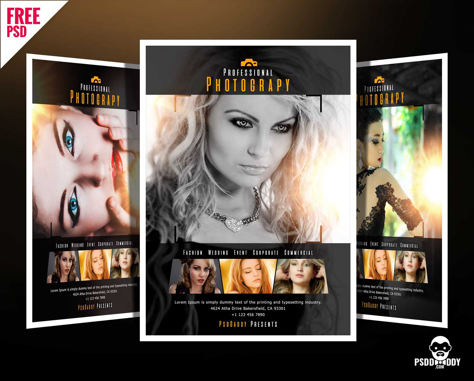 Download]Professional Photography Flyer Psd | Psddaddy Intended For Free Photography Flyer Templates Psd