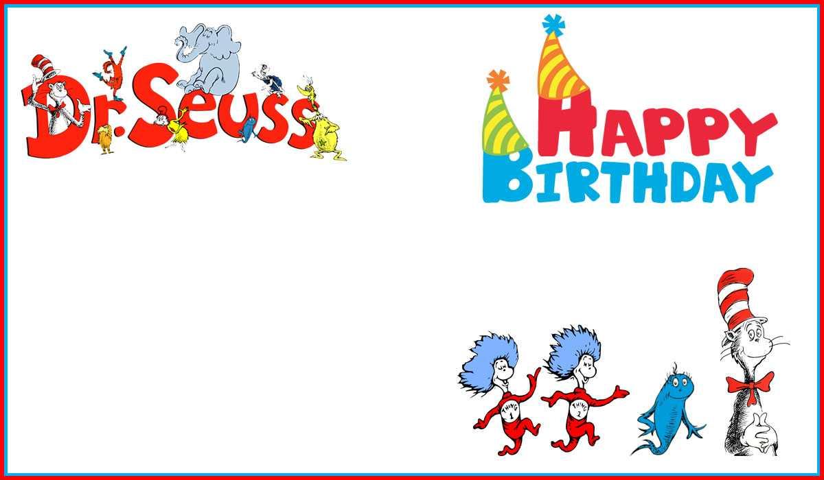 Dr Seuss Free Printable Invitation Templates   Invitations With Dr Seuss Birthday Card Template