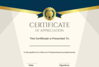 ❤️ Sample Certificate Of Appreciation Form Template❤️ in Employee Anniversary Certificate Template
