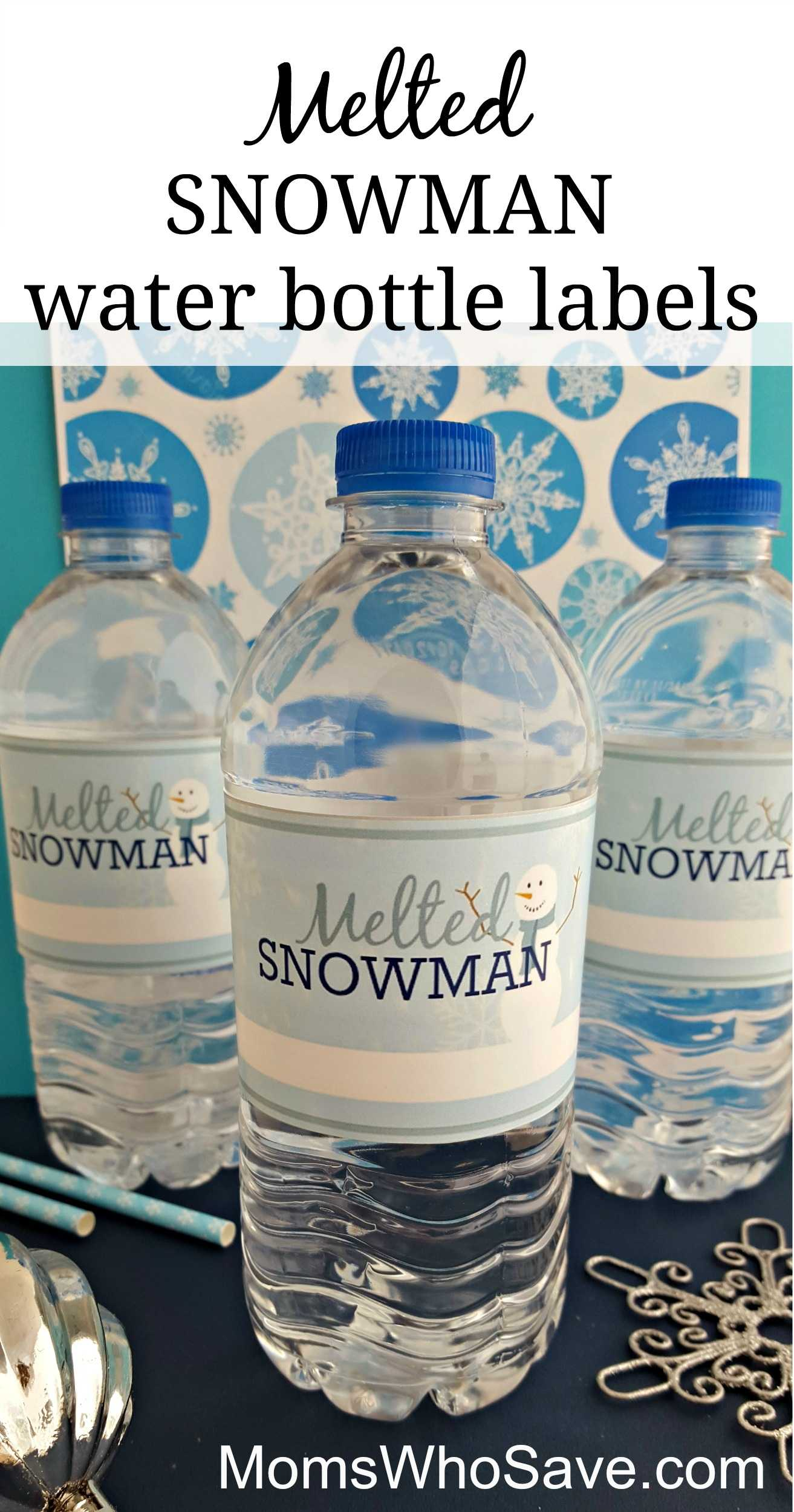 Easy Diy — Free Printable Melted Snowman Water Bottle Throughout Diy Water Bottle Label Template
